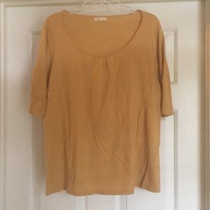 Eileen Fisher Gold Knit Shirt